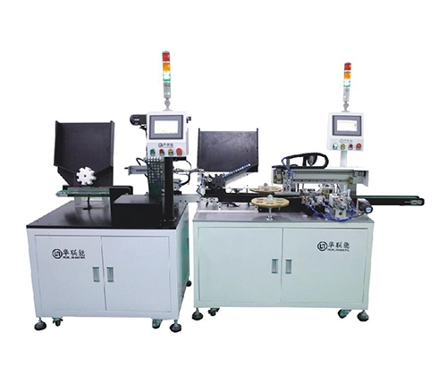 Sticker sorting spot welding triad machine